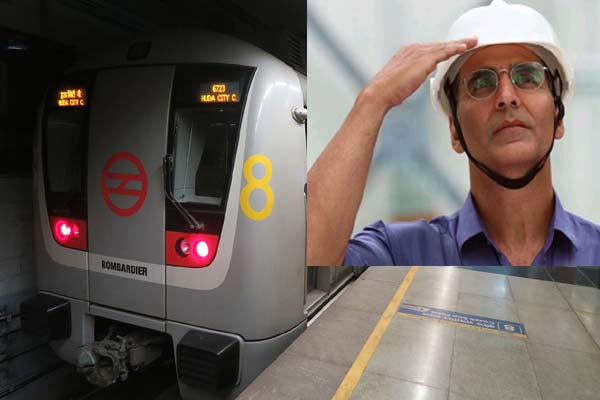 Akshay Kumar rides the metro - nobody even identified in the crowd