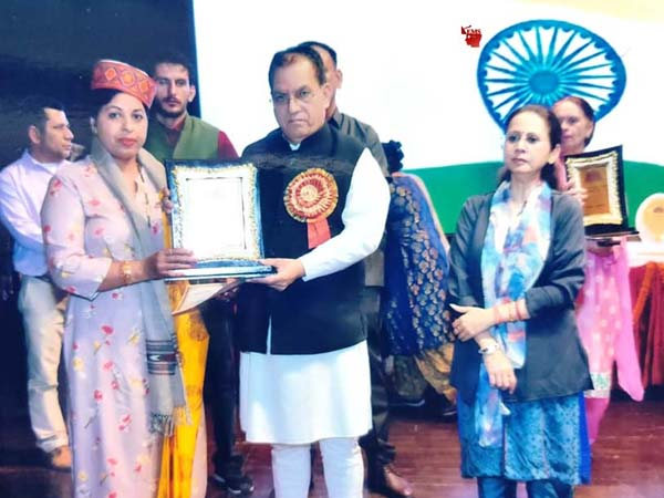 Rama Kumari received the Rajbhasha Award for outstanding employee