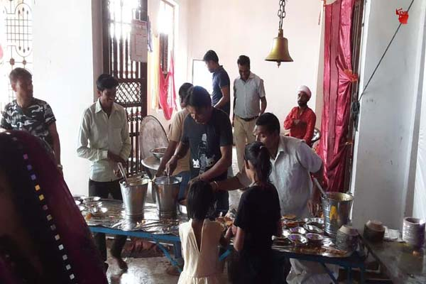 Mahaprasad was offered to Mata in Khere Devi temple, Bhandara lasted all day