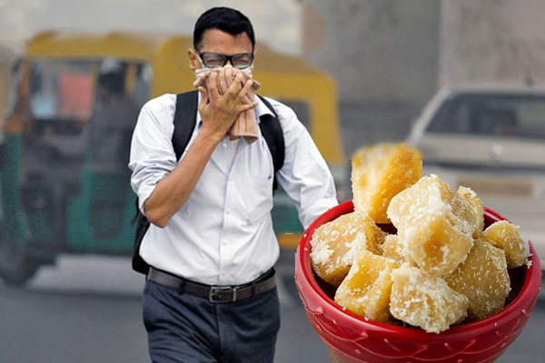 Jaggery is very helpful to avoid pollution