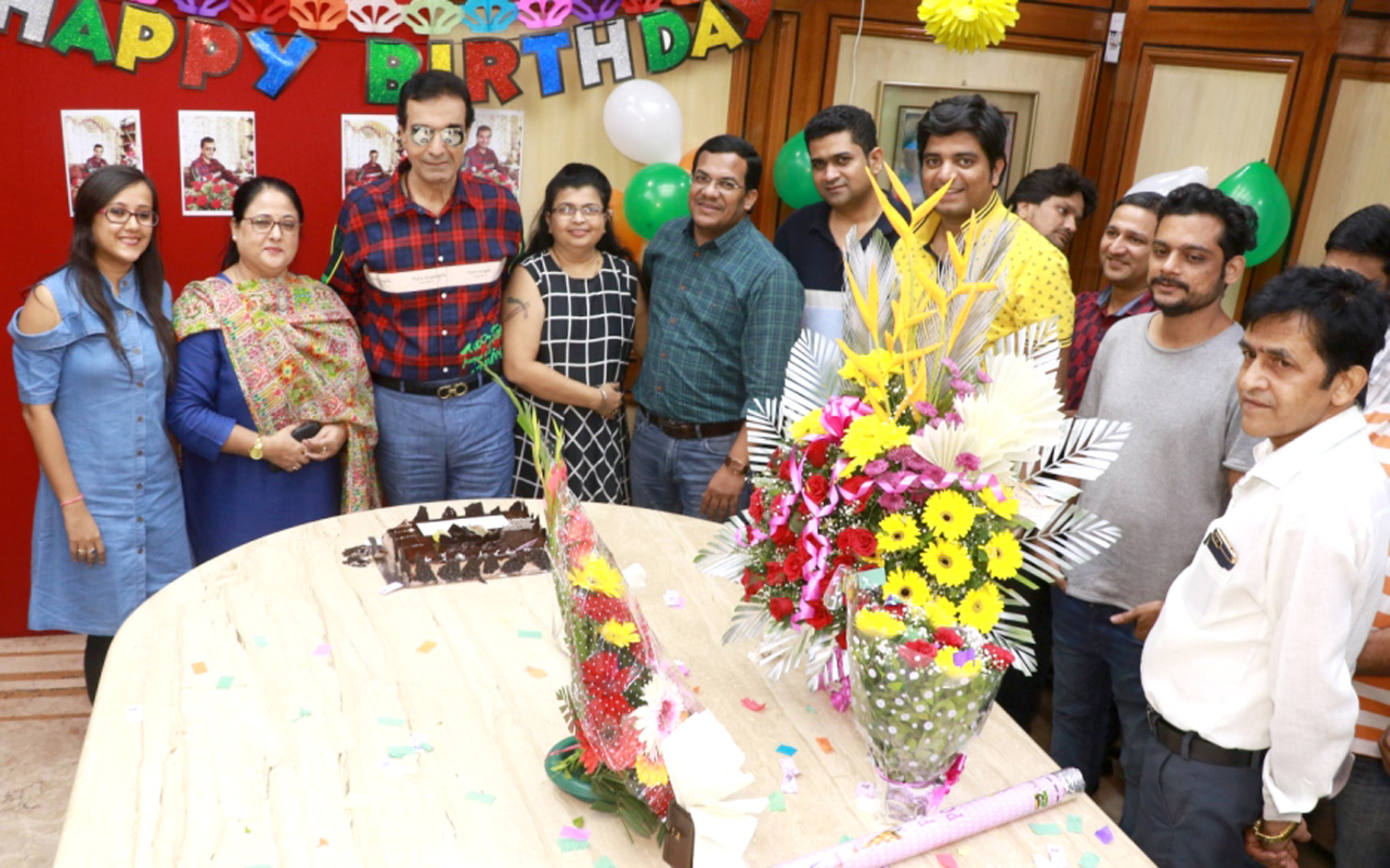 Creative eye Office Staff  Actor, Producer and director celebrated his birthday in grand style – Bank of Bollywood Creative eye Office Staff