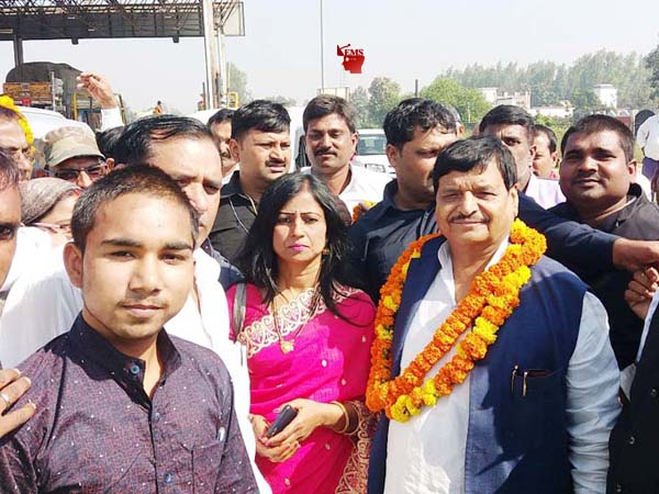 PCPL officials welcomed national president Shivpal Singh Yadav