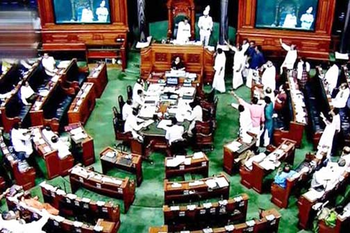 Uproar in Lok Sabha on Maharashtra issue, postponed till noon