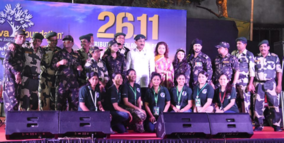 "Atharva Foundation organised ""A Tribute and salute to Soldiers & Mumbai Police who saved Mumbai from the 26/11 Terror Attack."