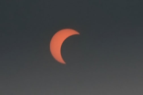 Even the solar eclipse was seen in Noida