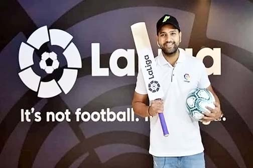 La Liga made Rohit Sharma the brand ambassador