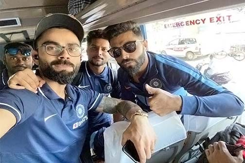 India-West Indies teams reach Chennai for first ODI