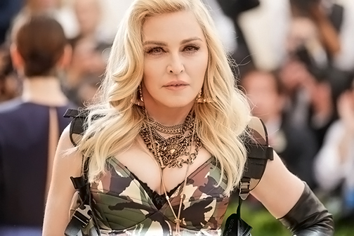 Madonna treated herself by raising her own blood