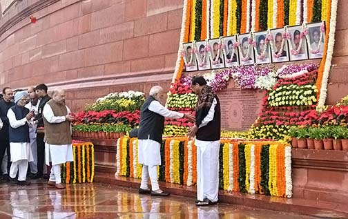 President, PM and others pay tribute to martyrs on 18th anniversary of attack on Parliament