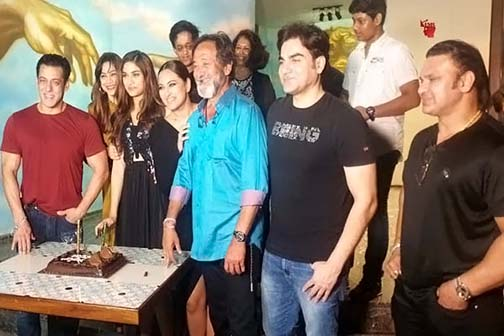 Salman Khan, Sonakshi Sinha, Arbaaz Khan from the Dabangg 3 team along with Say's parents, Mahesh and Medha Manjrekar were also present in the celebration.
