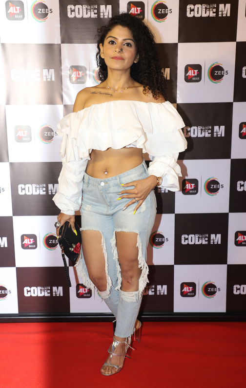 Bollywood Artists And others at screening of CODE M in Mumbai