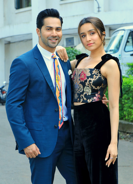 Bollywood Actor Varun Dhawan and Shraddha Kapoor at their film Street Dancer 3D promotions
