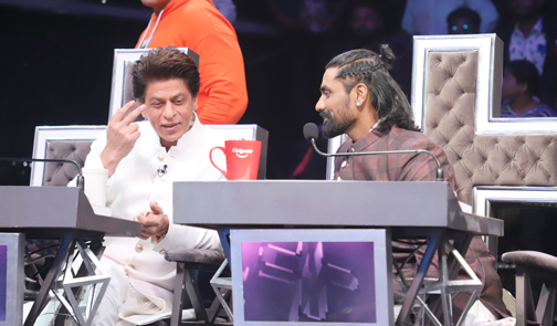 Bollywood Actor Shah Rukh Khan spotted on the sets of Dance+5 Filmistan Studio