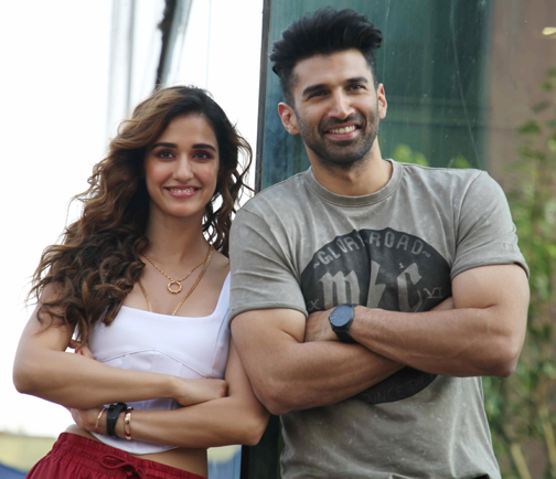 Bollywood actors Aditya Roy Kapur Actress Disha Patani pose for the Photograher during the promoting their film Malang