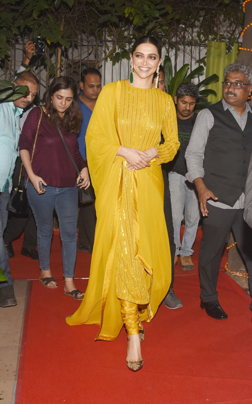 Bollywood actress Deepika Padukone attends as chief guest at the Mumbai Press Club Photographers exhibition and awards