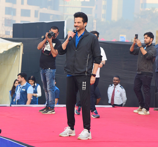 Bollywood Actor Anil Kapoor attends the Event of Bajaj Allianz life zeaful attempt to break their current 'Guinness World Record'   Anil Kapoor attends the Event of Bajaj Allianz life zeaful attempt to break – Bank of Bollywood DSC 5033