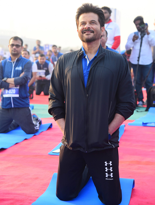 Bollywood Actor Anil Kapoor attends the Event of Bajaj Allianz life zeaful attempt to break their current 'Guinness World Record'   Anil Kapoor attends the Event of Bajaj Allianz life zeaful attempt to break – Bank of Bollywood DSC 5061