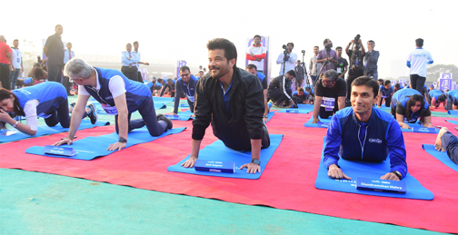 Bollywood Actor Anil Kapoor attends the Event of Bajaj Allianz life zeaful attempt to break their current 'Guinness World Record'   Anil Kapoor attends the Event of Bajaj Allianz life zeaful attempt to break – Bank of Bollywood DSC 5076