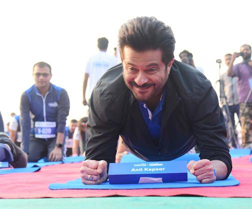 Bollywood Actor Anil Kapoor attends the Event of Bajaj Allianz life zeaful attempt to break their current 'Guinness World Record'   Anil Kapoor attends the Event of Bajaj Allianz life zeaful attempt to break – Bank of Bollywood DSC 5099