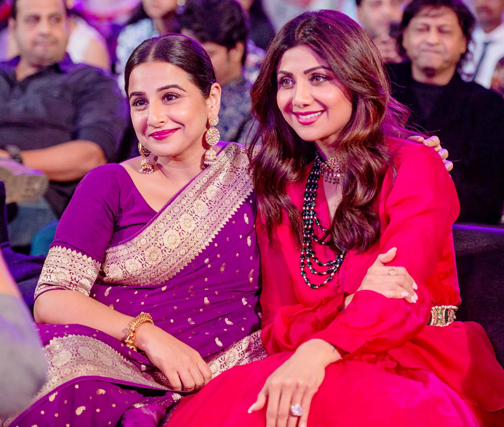 vidya balan, shilpa shetty at Umang 2020, a Mumbai Police Welfare Fund's Initiative, at BKC, Mumbai.