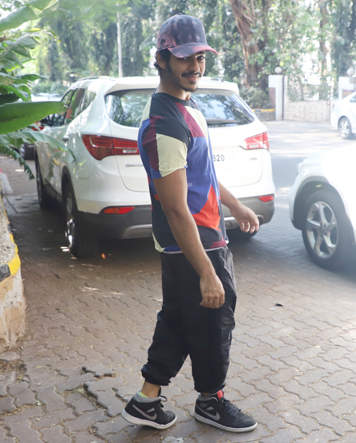 Bollywood actors Ishan Khattar spotted at bandra in Mumbai