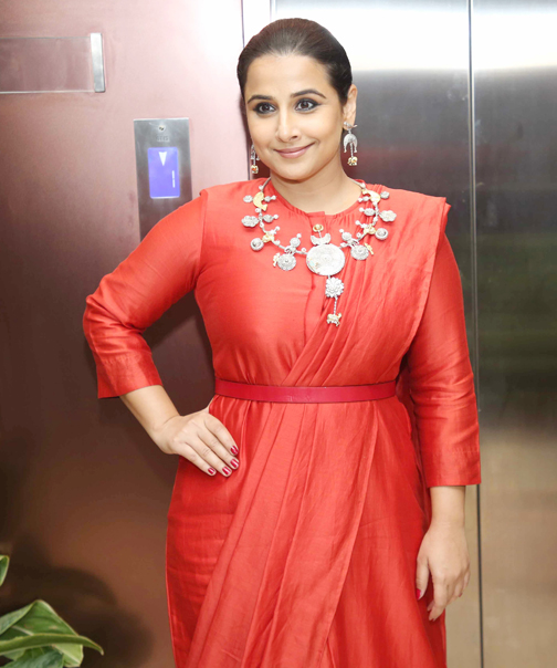Bollywood actress Vidya Balan , attends the Press Conference of 65th Flimfare Awards 2020  Actress Vidya Balan attends the Press Conference of 65th Flimfare Awards 2020 – Bank of Bollywood 928A0206