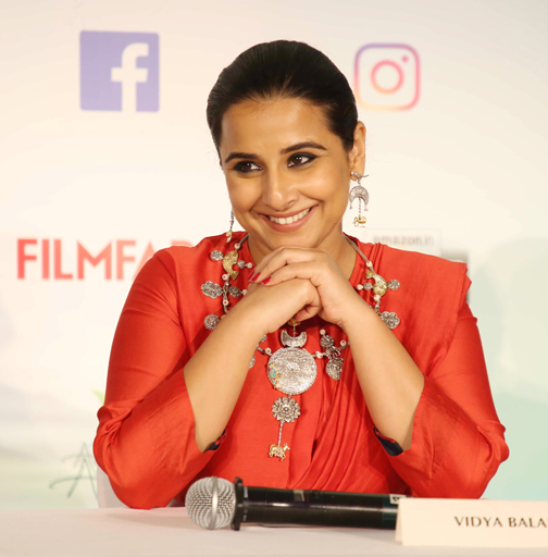 Bollywood actress Vidya Balan , attends the Press Conference of 65th Flimfare Awards 2020  Actress Vidya Balan attends the Press Conference of 65th Flimfare Awards 2020 – Bank of Bollywood 928A0564