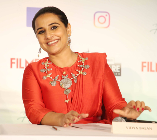Bollywood actress Vidya Balan , attends the Press Conference of 65th Flimfare Awards 2020  Actress Vidya Balan attends the Press Conference of 65th Flimfare Awards 2020 – Bank of Bollywood 928A0606