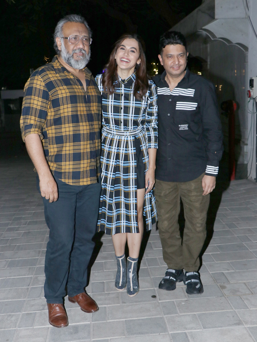 Bollywood actor Taapsee Pannu and Director Anubhav Sinha spotted promoting their film Thappad