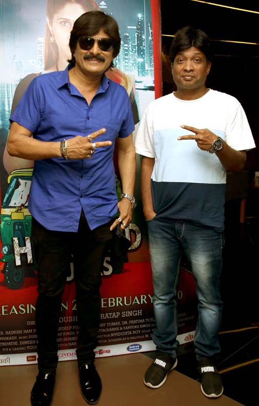 ahsaan qureshi & sunil pal  Ahsaan Qureshi and others attended screening of The Hundred Bucks ahsaan qureshi sunil pal