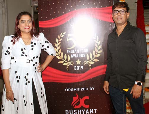 ekta jain & amit tyagi 1  Dushyant Pratap Singh organised attended Top 50 Indian Ikon Awards – Bank of Bollywood ekta jain amit tyagi 1