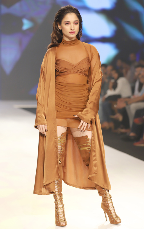 Bollywood actress Tamanna Bhatia walks for Dairy Milk Deme at Bombay Times Fashion Week 2020