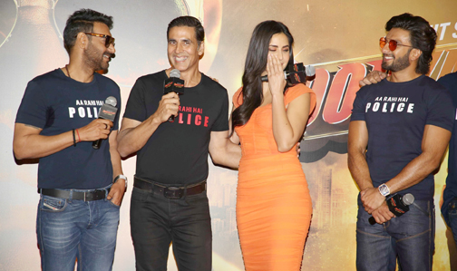 trailer launch of their upcoming action Hindi film 'Sooryavanshi'