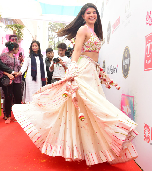 Jacqueline farnandez holly party lehenga style life