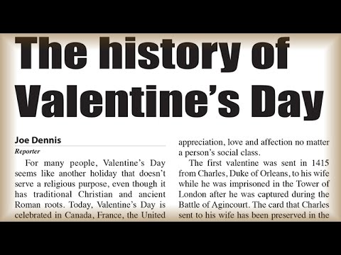 The Story of Valentine's Day!- Newz of day