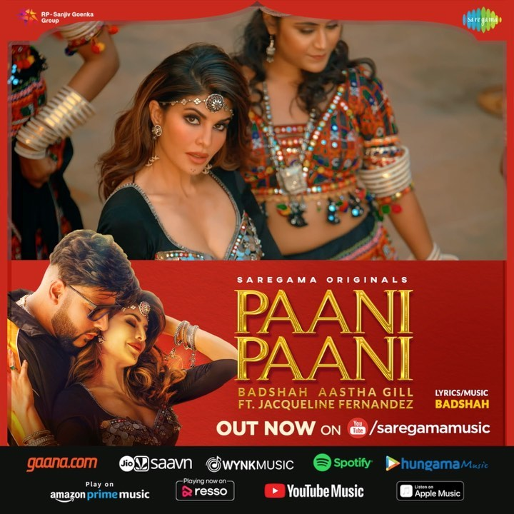 Jacqueline Fernandez, Badshah and Aastha Gill new song Paani Paani released on Wednesday. Badshah and Jacqueline Fernandez rocked, views crossed 8 lakhs in a few hours